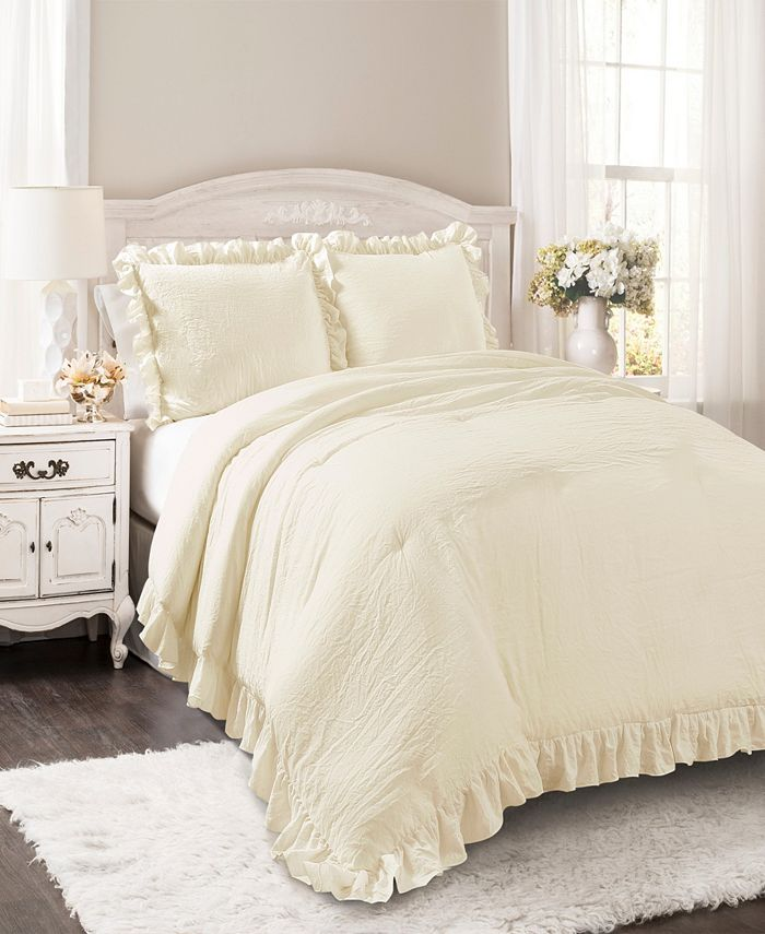 Lush Décor - Reyna Comforter White 3Pc Set King