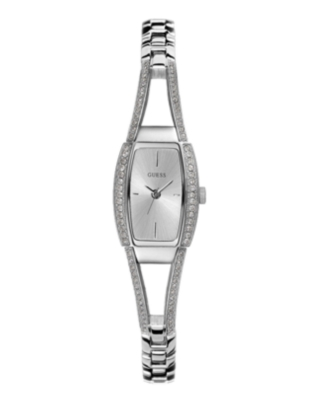 GUESS Watch, Women's Oval Crystal Bracelet G85633L - Sterling Bracelet Watch