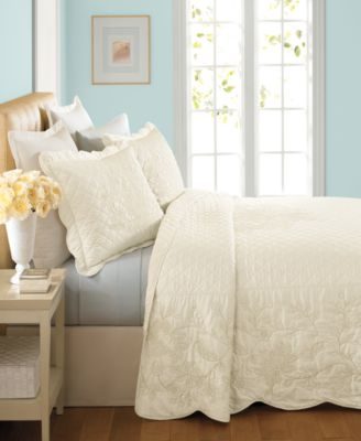 Martha Stewart Collection Pressed Flowers King Bedspread
