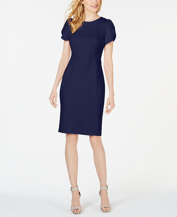 Calvin Klein - Tulip-Sleeve Sheath Dress