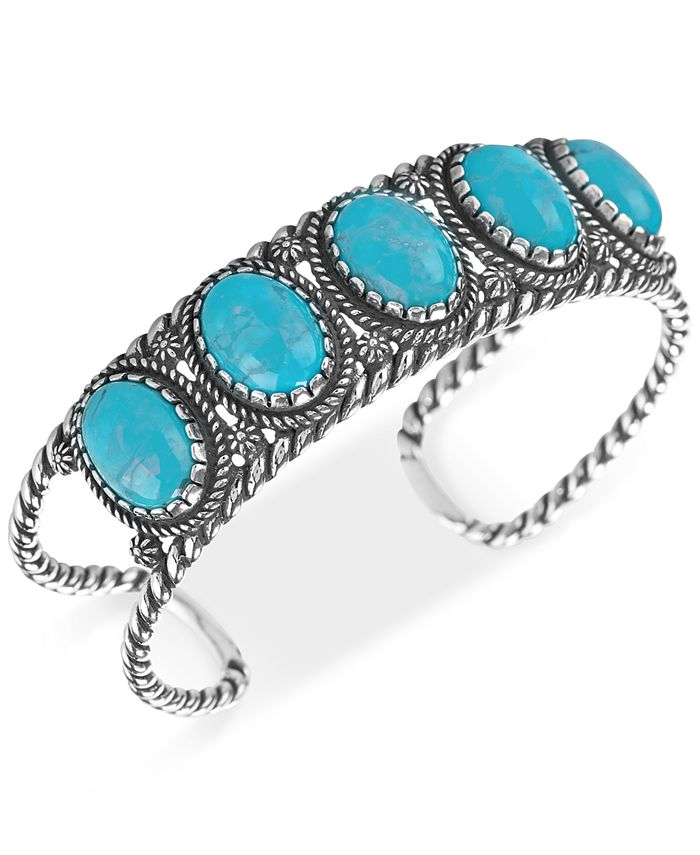 American West - Turquoise Cuff Bracelet (25-3/8 ct. t.w.) in Sterling Silver