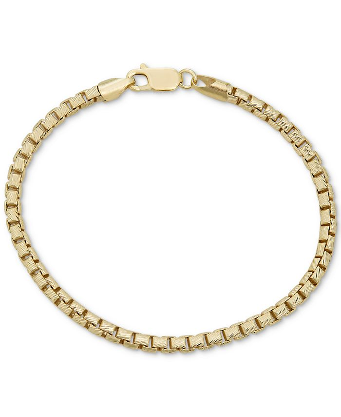 Macy's - Box Link Chain Bracelet in 18k Gold-Plated Sterling Silver