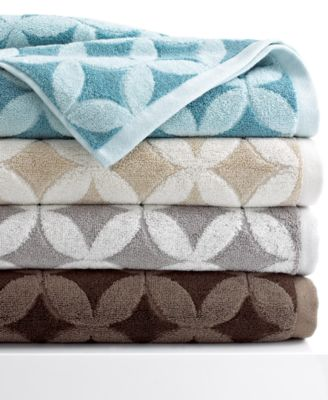 "Kassatex Bath Towels, Mosaic 13"" x 13"" Washcloth"