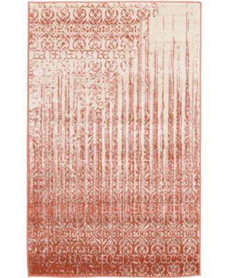 "CLOSEOUT! Lyon Lyo2 Red 3' 3"" x 5' 3"" Area Rug"