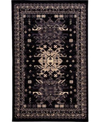 Charvi Chr1 Black 5' x 8' Area Rug