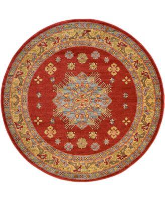Harik Har1 Red 6' x 6' Round Area Rug