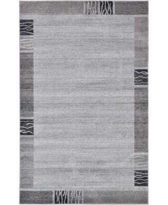 Lyon Lyo1 Light Gray 5' x 8' Area Rug