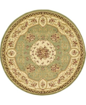 Belvoir Blv4 Green 8' x 8' Round Area Rug