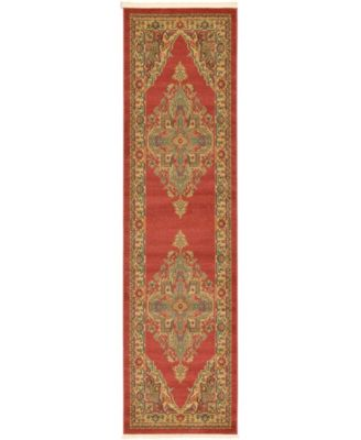"Harik Har9 Red 2' 7"" x 10' Runner Area Rug"