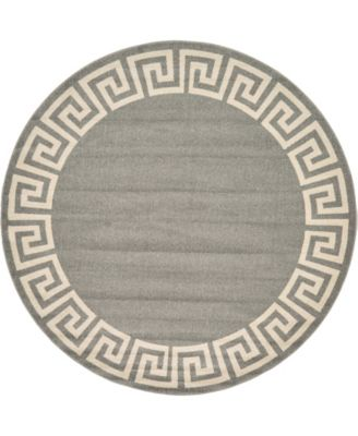 Anzu Anz2 Gray 8' x 8' Round Area Rug