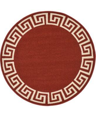 Anzu Anz2 Burgundy 6' x 6' Round Area Rug