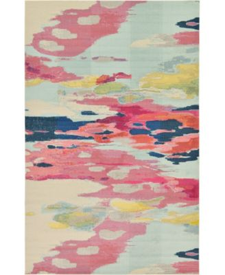 "Newwolf New4 Pink 10' 6"" x 16' 5"" Area Rug"