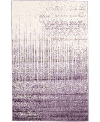 Lyon Lyo2 Purple 5' x 8' Area Rug