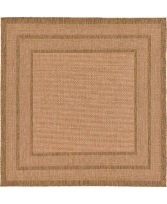 Pashio Pas6 Light Brown 6' x 6' Square Area Rug
