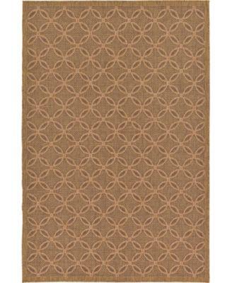 Pashio Pas6 Light Brown 7' x 10' Area Rug