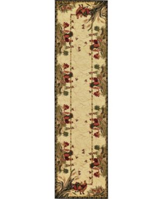 "Roost Roo1 Ivory 2' 7"" x 10' Runner Area Rug"