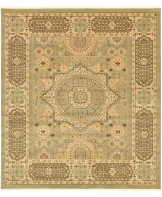 "Wilder Wld5 Light Green 10' x 11' 4"" Square Area Rug"
