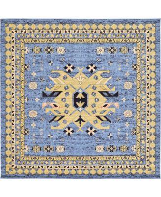 Charvi Chr1 Light Blue 8' x 8' Square Area Rug