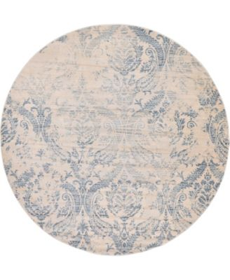 Caan Can5 Blue 6' x 6' Round Area Rug