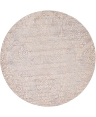 Caan Can5 Taupe 6' x 6' Round Area Rug