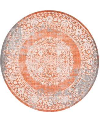 Norston Nor4 Terracotta 8' x 8' Round Area Rug