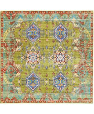 Malin Mal5 Light Green 8' x 8' Square Area Rug