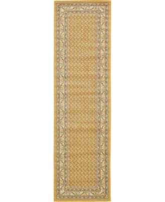 "Axbridge Axb1 Yellow 2' 9"" x 9' 10"" Runner Area Rug"