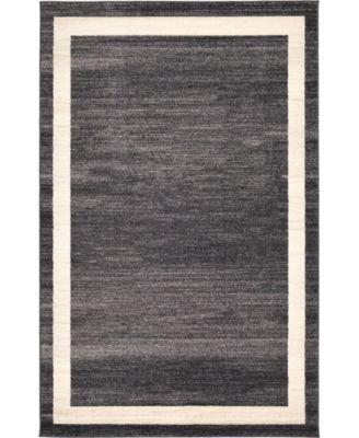 Lyon Lyo5 Black 5' x 8' Area Rug