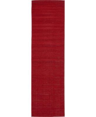 "Axbridge Axb3 Red 2' 9"" x 9' 10"" Runner Area Rug"