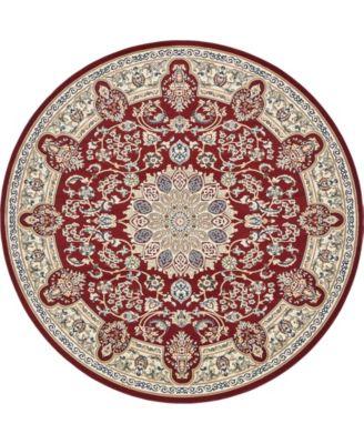 Zara Zar5 Burgundy 10' x 10' Round Area Rug