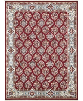 Zara Zar6 Burgundy 10' x 13' Area Rug