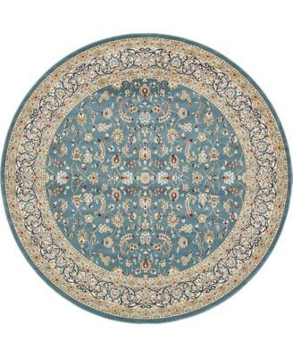 Zara Zar1 Blue 10' x 10' Round Area Rug