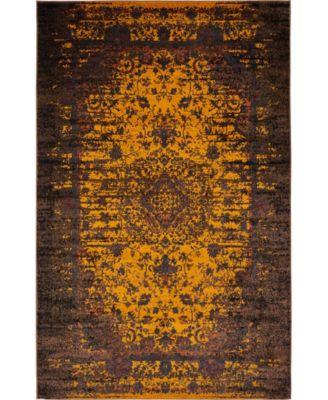 Linport Lin4 Orange 5' x 8' Area Rug
