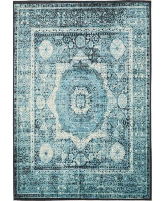 """Linport Lin7 Turquoise 8' x 11' 6"""" Area Rug"""