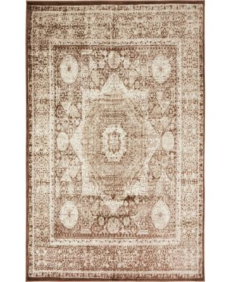 Linport Lin7 Chocolate Brown 5' x 8' Area Rug
