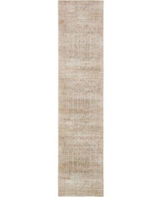 Odette Ode1 Beige 3' x 13' Runner Area Rug