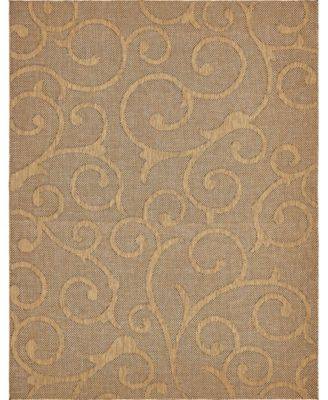 Pashio Pas7 Light Brown 9' x 12' Area Rug