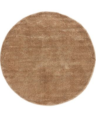 Uno Uno1 Light Brown 6' x 6' Round Area Rug