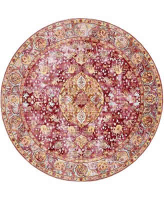 Malin Mal2 Red 8' x 8' Round Area Rug