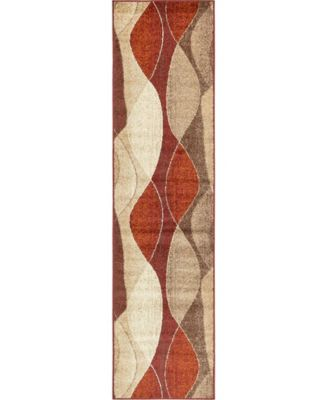 "Jasia Jas04 Multi 2' 6"" x 10' Runner Area Rug"