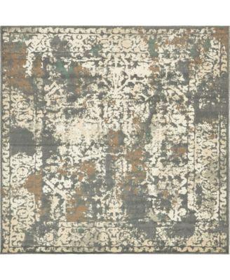 Tabert Tab1 Gray 8' x 8' Square Area Rug
