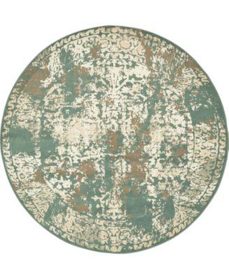 Tabert Tab1 Green 8' x 8' Round Area Rug