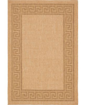 Pashio Pas6 Light Brown 6' x 9' Area Rug