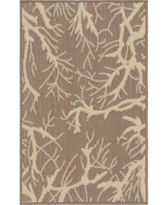 Pashio Pas6 Brown 2' x 3' Area Rug