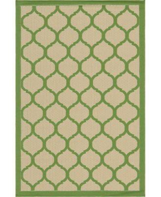 """Pashio Pas5 Green 3' 3"""" x 5' Area Rug"""