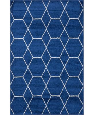Plexity Plx1 Navy Blue 4' x 6' Area Rug