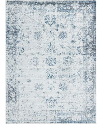 Basha Bas1 Light Blue 6' x 9' Area Rug