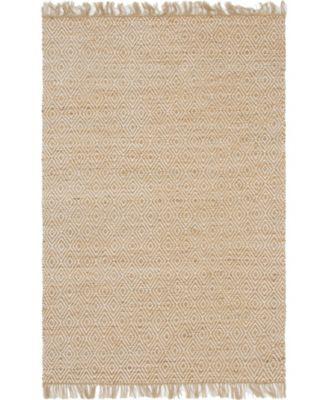 Braided Tones Brt3 Natural/White 6' x 9' Area Rug