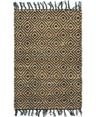 Braided Tones Brt3 Natural/Black 2' x 3' Area Rug