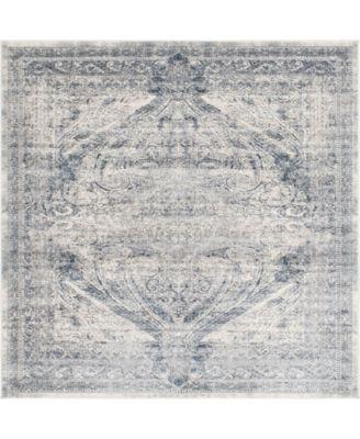 Odette Ode8 Dark Blue 7' x 7' Square Area Rug